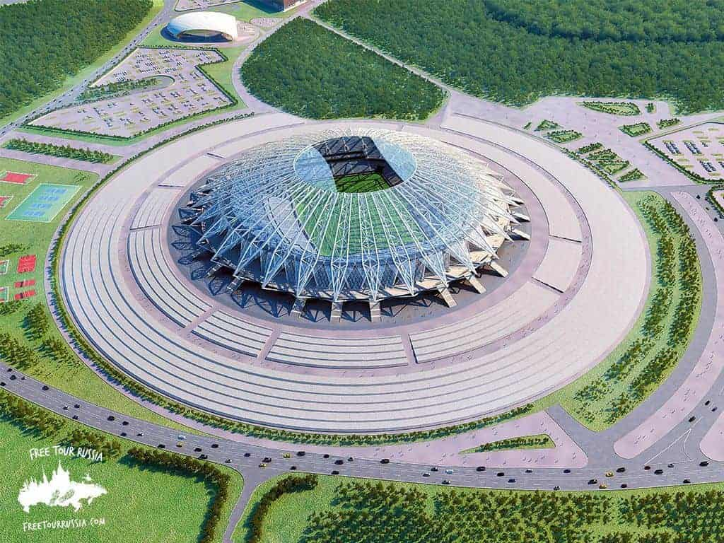 Saransk Stadium for the 2018 World Cup