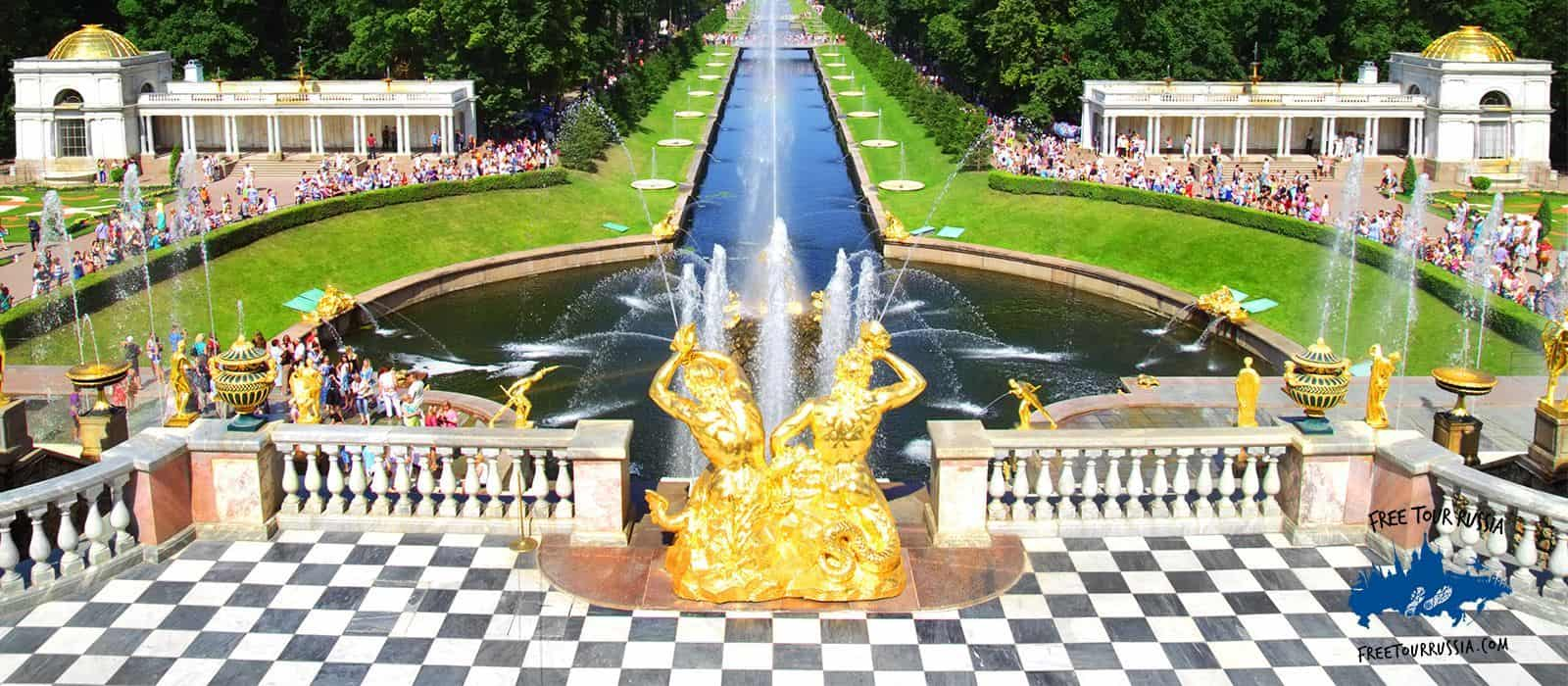 Tour through Gardens and Fountains of Peterhof