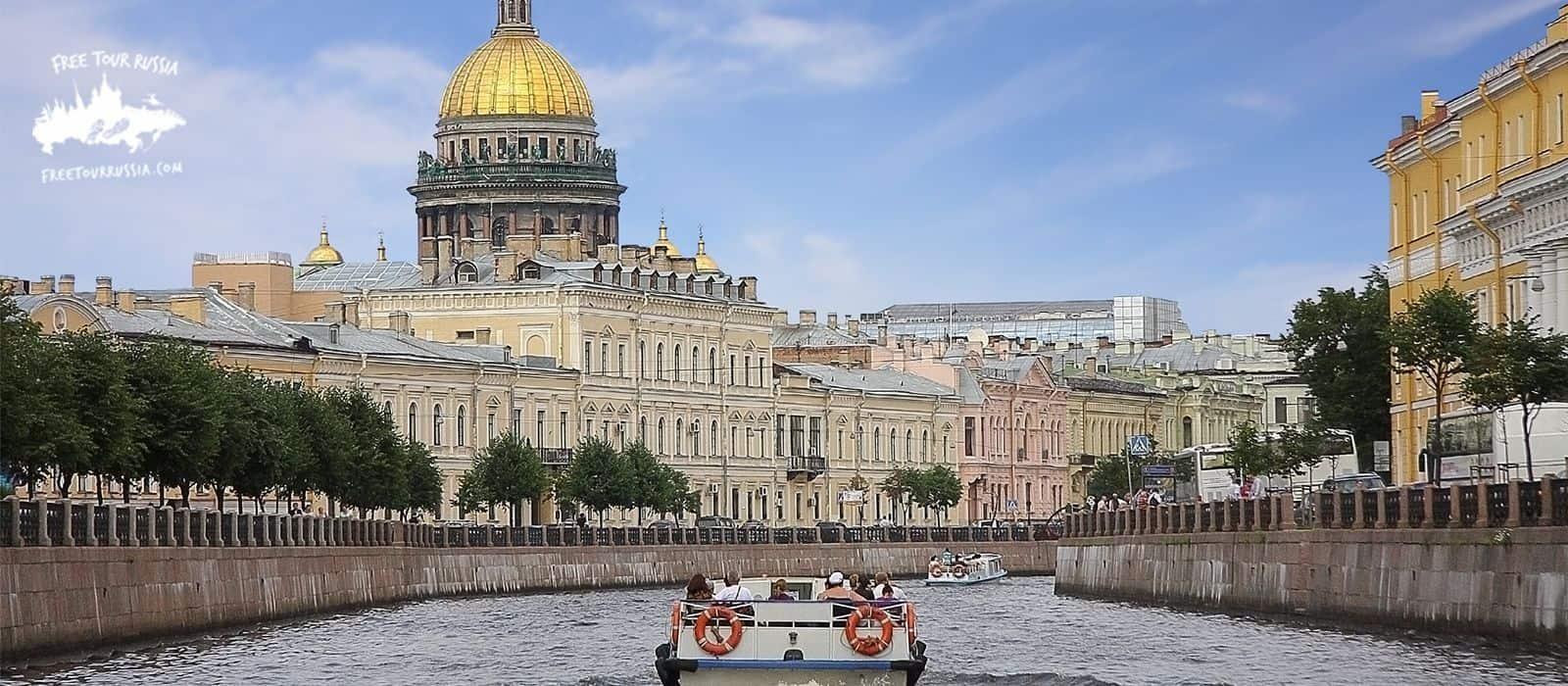 Boat Tour Through St. Petersburg Canals
